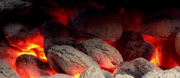 orange coals
